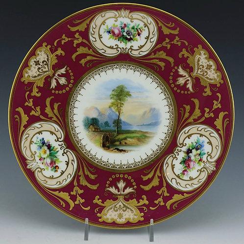 Antique Cabinet Plate - Scene of Loch Lomond