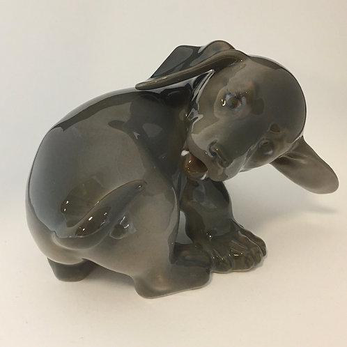 Royal Copenhagen Dachshund Puppy Figurine