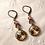 Pink Rivoli Crystal Earrings