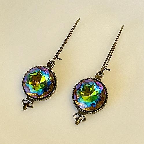 Czech Rhinestone Dangle Earrings
