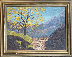 Arts & Crafts Era Oil Painting