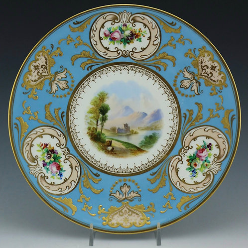 Antique Cabinet Plate - Loch Awe Scene