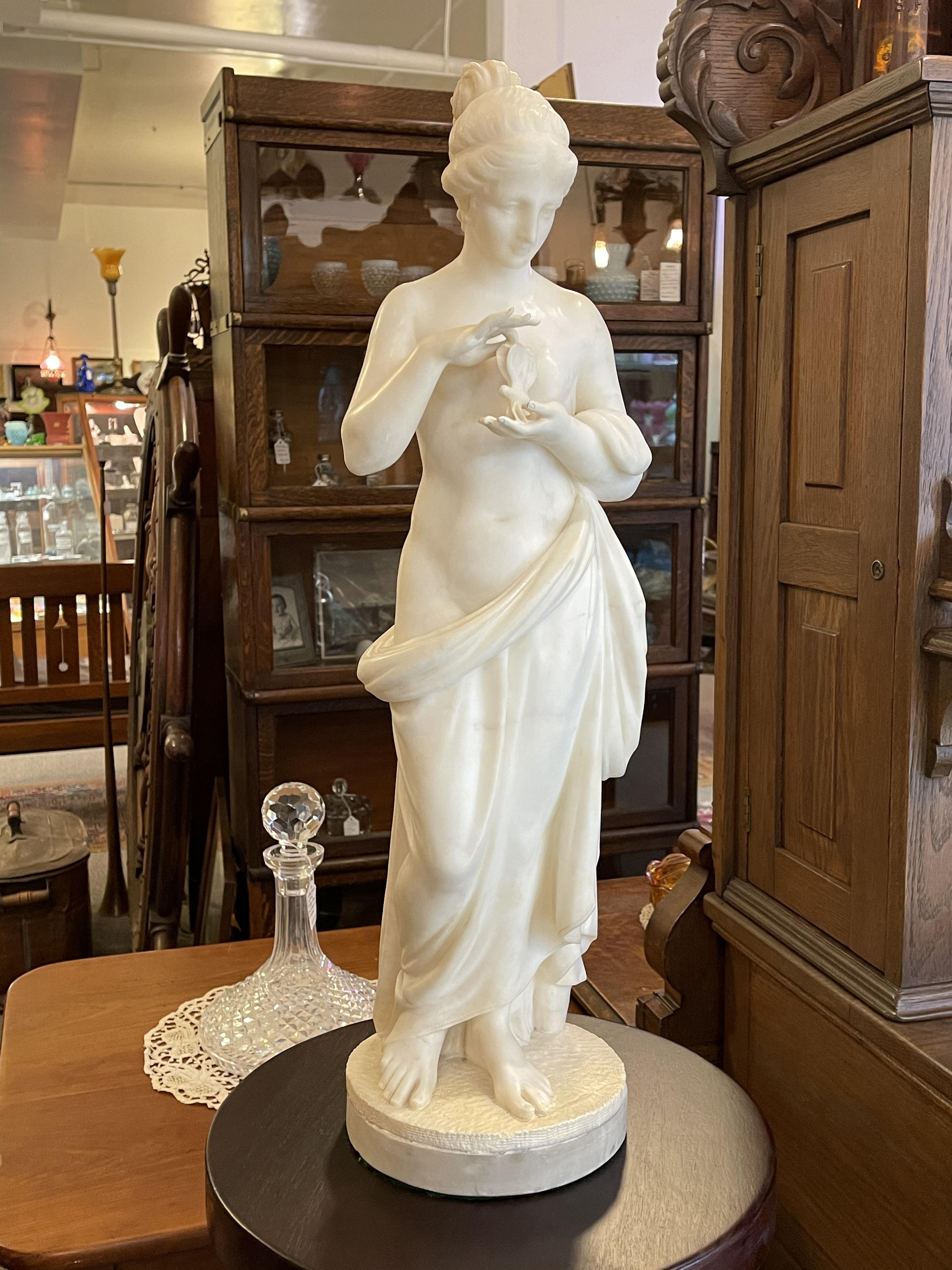 Art Nouveau Marble Statue