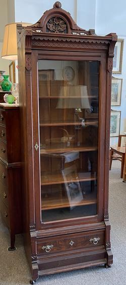 Eastlake Mahogany Bookcase
