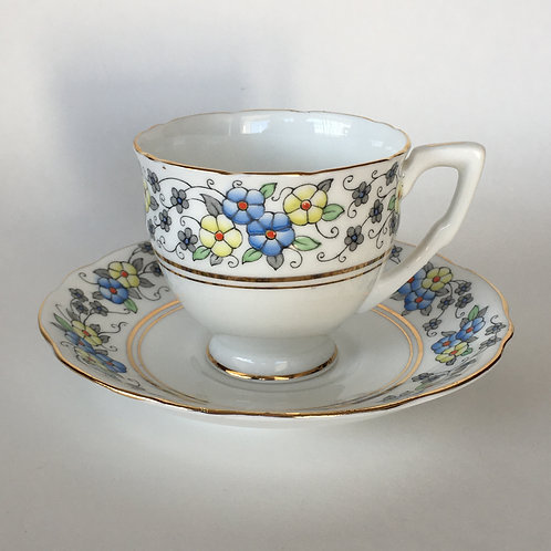 Gladstone Bone China Cup and Saucer England