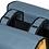 Thumbnail: Basil Urban Load - dubbele fietstas - 48-53L - grijs met geel