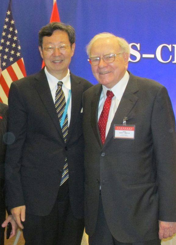 Robert Sun with Warren Buffett