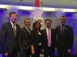 Robert & Lisa Sun with Jianlin Wang and Mayor Garcetti