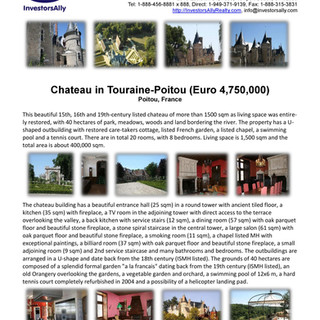 InvestorsAlly Realty_Chateau in Touraine