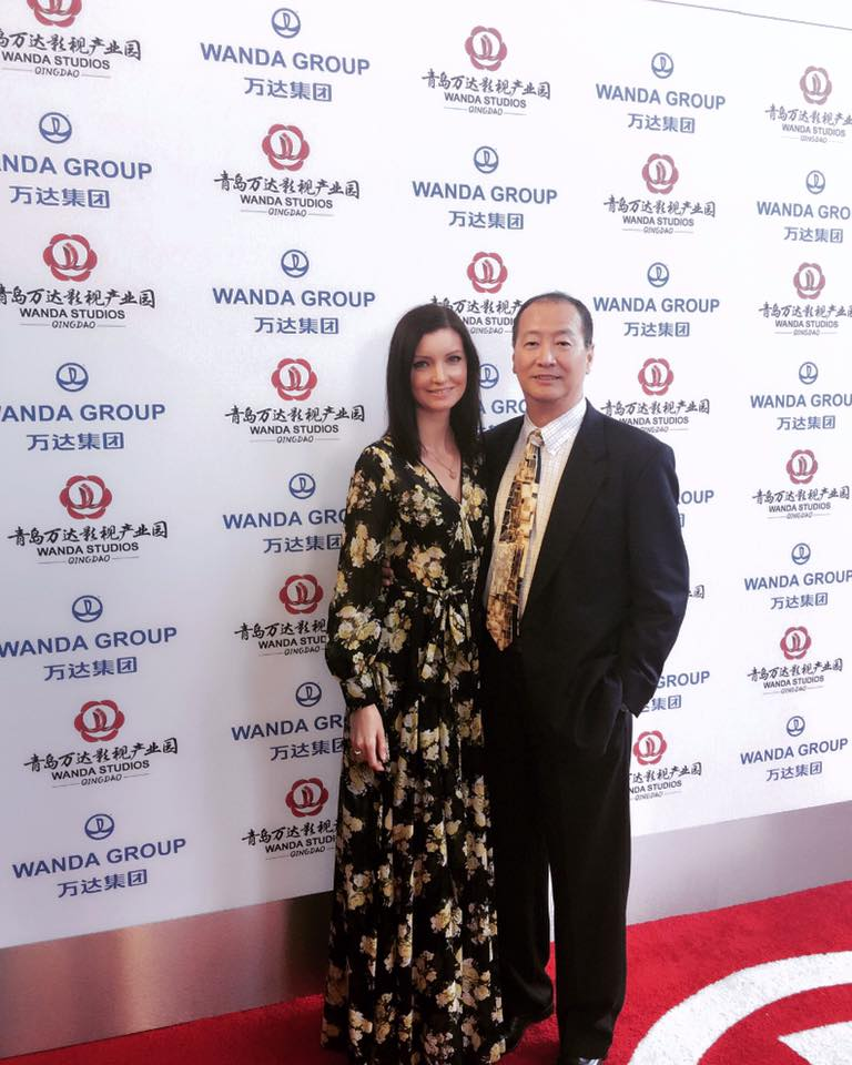 Club President Mr. & Ms. Ralph Liu attending Wanda Studio Film Summit