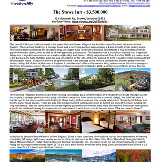 InvestorsAlly Realty_The Stowe Inn, Stow
