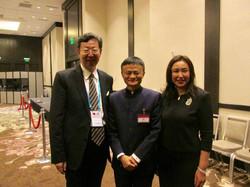 Mr. & Mrs. Robert Sun with Jack Ma