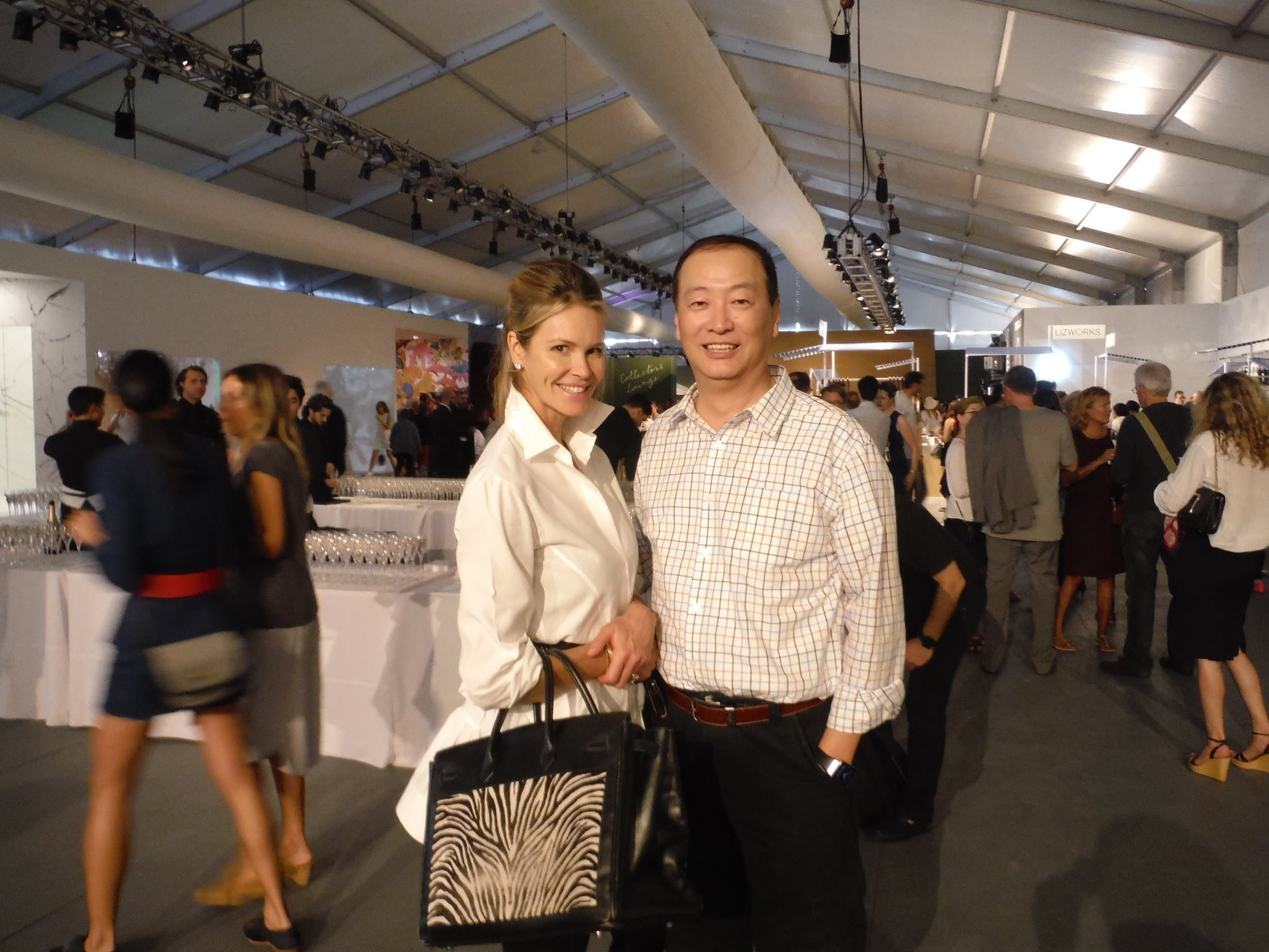 Ralph Liu with Elle McPherson