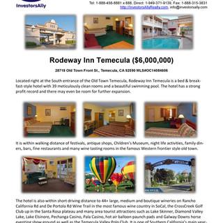 InvestorsAlly Realty_Rodeway Inn Temecul