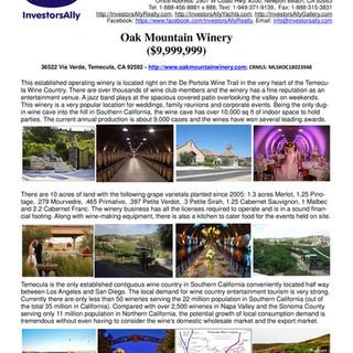 InvestorsAlly Realty_Oak Mountain Winery