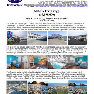 InvestorsAlly Realty_Motel 6 Fort Bragg