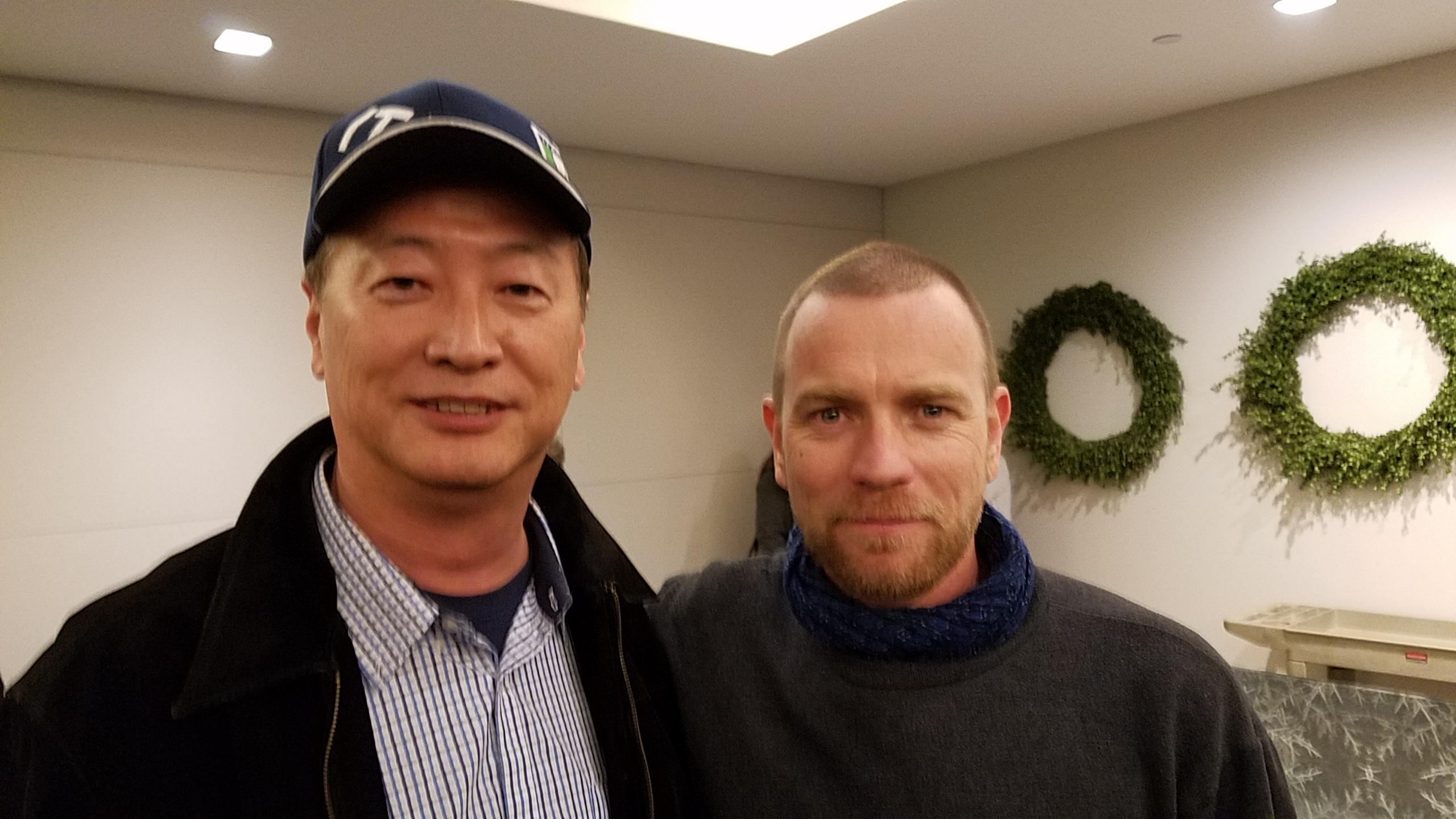 Club President Ralph Liu with Ewan McGregor