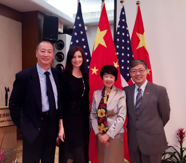 Visiting Ambassador Mr. & Mrs. Jian Liu of Chinese Embassy in Los Angeles