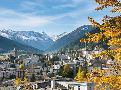 Davos in Autumn, Graubunden, Switzerland