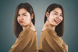 bipolar disorder personality. Asian woma