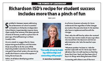 Richardson ISD - Superintendent Stone