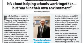 KLAMATH FALLS CITY SCHOOLS: Dr. Paul Hillyer