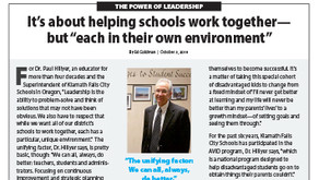 KLAMATH FALLS CITY SCHOOLS: Dr. Paul Hillyer