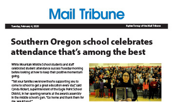 Mail Tribune - Eagle Point SD - Best Attendance