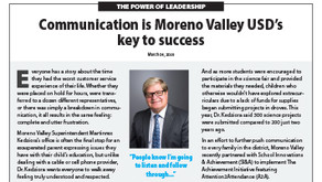 MORENO VALLEY USD: Dr. Martinrex Kedziora