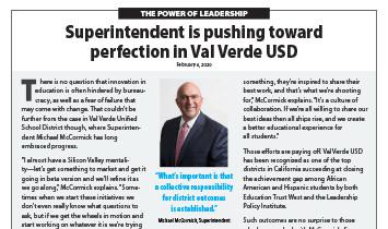 Val Verde USD - Superintendent McCormick