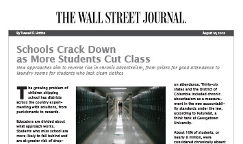 WallStreetJournal-SchoolsCrackDownOnCuttingClass