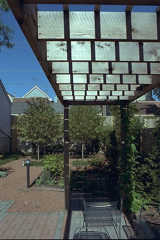 View of trellis and bosque