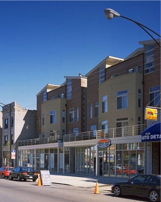 Multi-family buildings with retail base.
