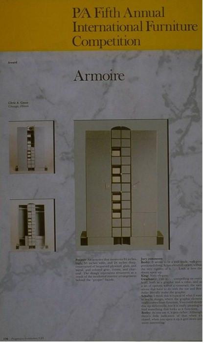 Armoire Design Award