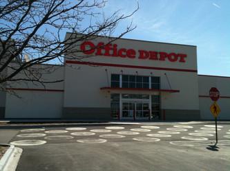Office Depot renovated facade