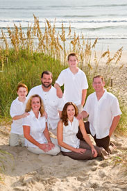 AM Family Portrait with sea oats