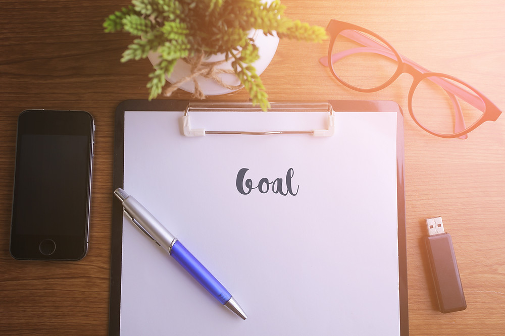 Pad and pen goal setting