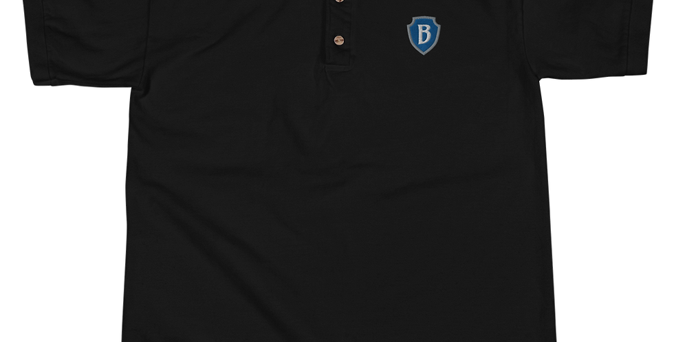 PlanBPlays Shield Embroidered Polo Shirt