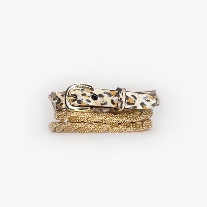 Blond Gold - Leopard Zebra Leather