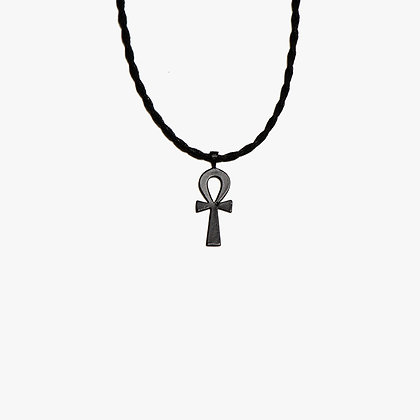 'ANKH AND ROPE' NECKLACE - MANHATTAN MATTE BLACK