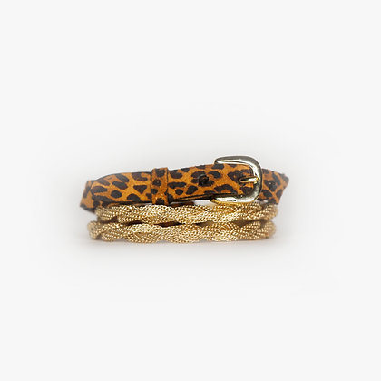 Blond Gold - Leopard Leather