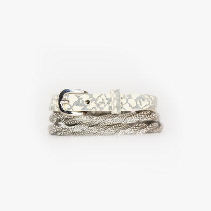 Silver - Grey Bone Leather