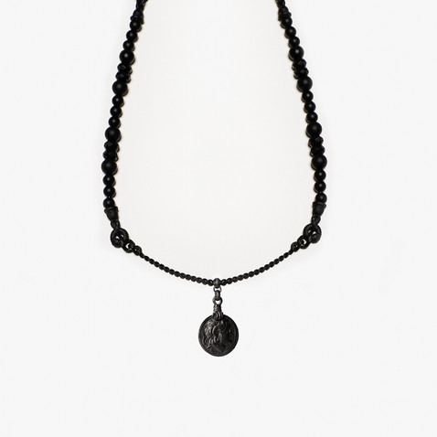 'ROMAN COIN & STONES' NECKLACE
