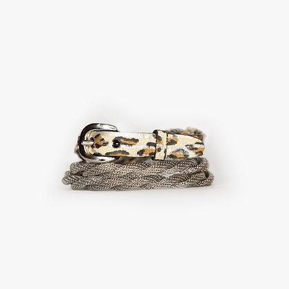 Silver - Leopard Zebra Leather
