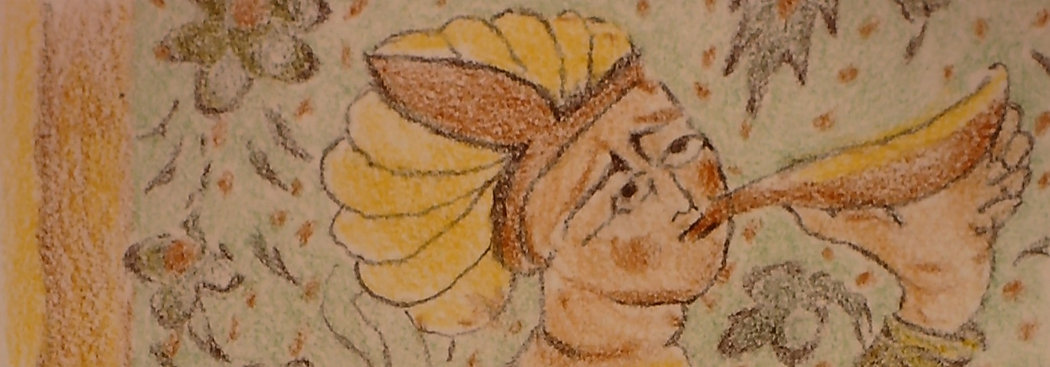 ''The Harvest'' - (4''x6'') ebony pencil
