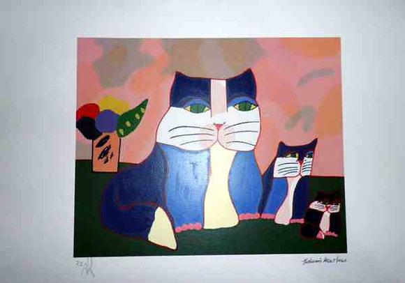 Família de Gato Rosa