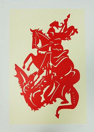 São Jorge Guerreiro - Vermelho