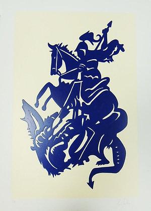 São Jorge Guerreiro - Azul