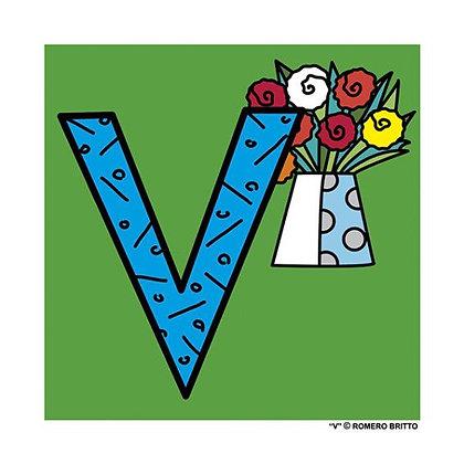 Mini Print Alfabeto - V