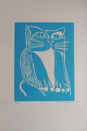 Gato Azul Claro